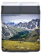 Rocky Mountains In Jasper National Park Duvet Cover by Elena Elisseeva