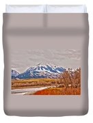 Rocky Mountains In Montana Duvet Cover