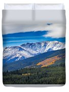 Rocky Mountains Independence Pass Duvet Cover