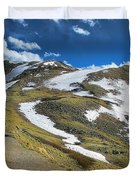 Rocky Mountains Path Duvet Cover