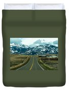 Rocky Mountains Road Duvet Cover