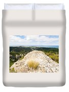 Rocky Outcrops Of Trotters Gorge Otago Nz Duvet Cover