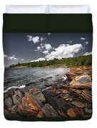 Rocky Shore Of Georgian Bay I Duvet Cover by Elena Elisseeva