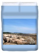 Rocky Shore To Rocky Mountain Duvet Cover