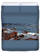 Rocky Shoreline - Coast -  Painterly Effects -  Panorama Duvet Cover