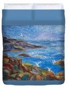 Rocky Shores Of Maine Duvet Cover