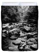Rocky Smoky Mountain River Duvet Cover