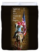 Rodeo America - Land Of The Free Duvet Cover