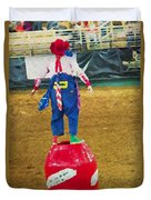 Rodeo Barrel Clown Duvet Cover