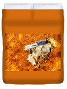 Eight-second Ride Duvet Cover