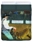 Rodeo Cowboy Referee Duvet Cover