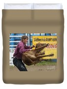 Rodeo Fit To Be Tied Duvet Cover