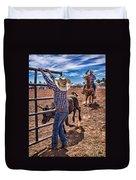 Rodeo Gate Keeper Duvet Cover