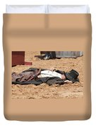 Rodeo Gunslinger Victim Color Duvet Cover