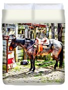 Rodeo Horse Three Duvet Cover