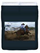 Rodeo Ladies Barrel Race 1 Duvet Cover