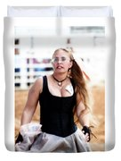 Rodeo Saloon Girl Dancing Duvet Cover