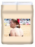 Rodeo Saloon Girl Profile Duvet Cover