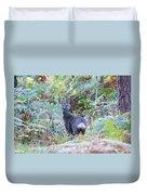 Roe Buck In Woodland Duvet Cover