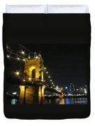 Roebling Bridge II Duvet Cover