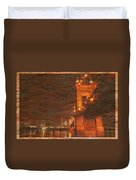 Roebling Bridge Stone N Wood Duvet Cover
