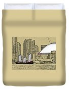 Roger's Centre And Tall Ship Duvet Cover