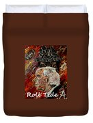 Roll Tide With Bear Bryant And Mal Moore  Duvet Cover by Mark Moore