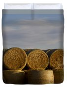 Rolled Hay   #1056 Duvet Cover