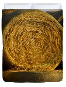 Rolled Hay   #1074 Duvet Cover