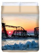 Roller Coaster After Sandy Duvet Cover by Tony Rubino