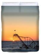 Roller Coaster Sunrise Duvet Cover