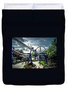 Rollercoaster Amusement Park Ride Duvet Cover