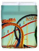 Rollercoaster At The Octoberfest In Munich Duvet Cover