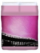 Rollercoaster In Pink Duvet Cover