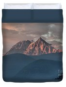 Rolling Hills And Purple Tantalus Peaks Duvet Cover