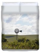 Rolling Plains Windmill Duvet Cover