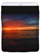 Rolling Sunrise Colors Duvet Cover