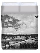 Rollinsville Colorado Small Town 181 In Black And White Duvet Cover