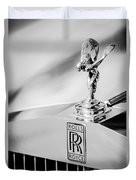 Rolls-royce Hood Ornament -782bw Duvet Cover