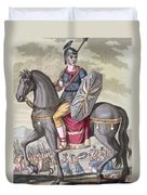 Roman Cavalryman Of The State Army Duvet Cover