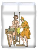 Roman Devices For Setting Fractures Duvet Cover