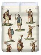 Roman Foot Soldiers Duvet Cover by Splendid Art Prints