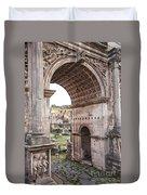 Roman Forum Arch Duvet Cover