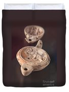 Roman Oil Lamp Duvet Cover by Sophie McAulay