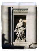 Roman Statue Duvet Cover