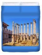 Roman Temple In Cordoba Duvet Cover