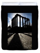Roman Temple Silhouette Duvet Cover