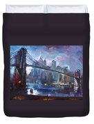 Romance By East River II Duvet Cover