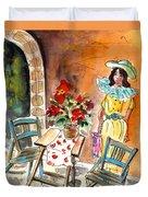 Romance In Siracusa Duvet Cover