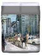 New York 5th Avenue Ride - Fine Art Duvet Cover